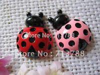 flat back resin ladybug  for phone decoration 12pcs/lot