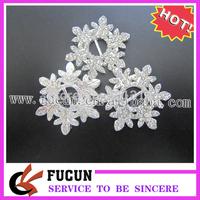snowflake diamante slider,free ship,10 mm inner bar,34*27 mm outer,clear rhinestone,silver plating,100 pcs/lot