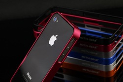 Metal Gear aluminium metal shell bumper case for iphone 4/4S(China (Mainland))
