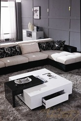 modern high glossy white coffee table, mdf coffee table, fashion living room furniture(China (Mainland))