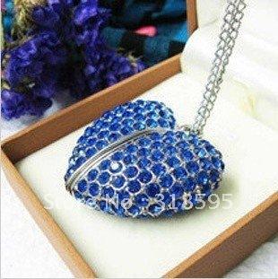 Sweet Blue Crystal Heart  4-32GB USB Memory Stick Flash Pen Drive