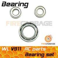 V911 V911-1 V911 pro Bearing set = 1pcs Bearing for Swashplate + 2pcs Bearing for Main Shaft