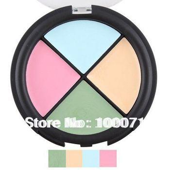 Fashion Hot Sale 2014 New 1Pcs/lot Pro 4 Color Cream Quad Makeup Facial Care Concealer Palette Skin Camouflage 4##22708