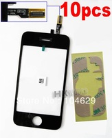 10PCS Replacement Touch Screen Digitizer+Adhesive for iPhone 3GS B0012+E4001 T15