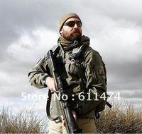 Men's Outdoor Hunting Camping Waterproof Coats Jacket Hoodie jacket  Black / Green / Desert / Brown / ACU / XS - XXL