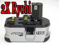 FREE SHIPPING !!! 2 pack X Ryobi P104  One+ plus 18V 2.4Ah  Lithium Li-Ion Power Tool batteries