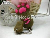 Brown Cat Dog Paw Memory Stick 2GB/4GB/8GB/16GB Real Capacity USB 2.0 Flash Drives U Disk
