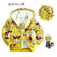 Hot sale hot winter cartoon fleece hooded children coat winter hoodies for kids age 2-8 Y
