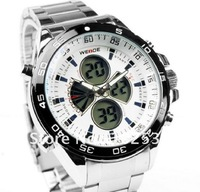 New Coated Glass Multifunction Chronograph Fashion Style Sport Mens Military Watch Waterproof Date Alarm Light Pointer White