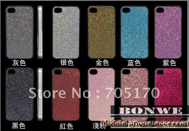 free shipping,Glitter Bling Shining Hard Back Cover Case for iphone 4 4s,Protective Diamond Crystal Case Cover for iphone 4 4s(China (Mainland))