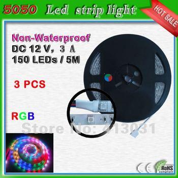 non-waterproof fita de led 5050 rgb dc 12v 30 leds/m 5m led strip light rgb 150 leds band led color changing light decoration