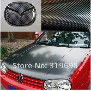 High quality ,Wholesale car Accessories 3D Carbon Fibre Vinyl Sheet Wrap Sticker Film Paper Decal 127x30cm,black New