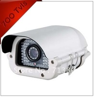 Free Shipping 700TVL 48 Lights Metal excellent quality CAR LICENSE PLATE CCTV Camera