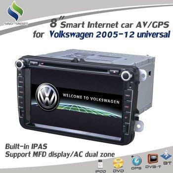 "For Volkswagen Passat CC Golf6 GTI New Magotan Sagitar New Bora Tiguan 8"" GPS DVD Radio BT PIP MFD RDS Steering wheel control"