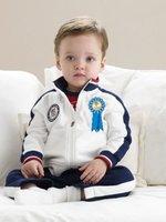 New!! Boys suits Jacket+Pants Kids cotton sweatshirt set Autumn coat POLO Baby Clothing set,Free shipping 5sets/lot