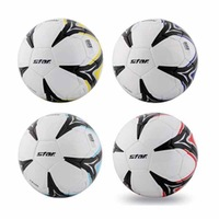 Free shipping! High quality Match use Star Seamless Soccer Ball/Football Size 5 SB475 GIANT 4 Color Gift: gas pin & net bag