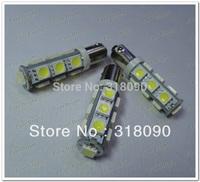 10 pcs/lot BA9S Parking Light 5050 13 SMD 12V DC Car 13led Interior Bulbs Reading Light Parking Lamps