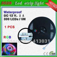 300 Led Strip RGB 3528 SMD 60 Leds/m DC 12V Waterproof Led Strip Boat Lights 5 meter Remote Control Ruban Led RGB