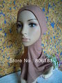 m1673 cotton muslim hijab pure color inner cap elegent islamic hat mix color freeshipping wholesale