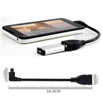 90 Degree Micro USB OTG to USB 2.0 Adapter Cable for Samsung GT-i9100 i9100 Galaxy S II 2 GT-N7000 Galaxy Not
