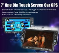 Free shipping 7'' touch screen Car DVD Player with GPS/TV/Bluetooth VD72G fashion design Car GPS