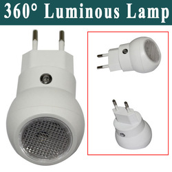 Novetly 0.1W 360 Degree Rotating Luminous Lamp Small Night Emergency Light Lighting Easy Use White Freeshipping(China (Mainland))