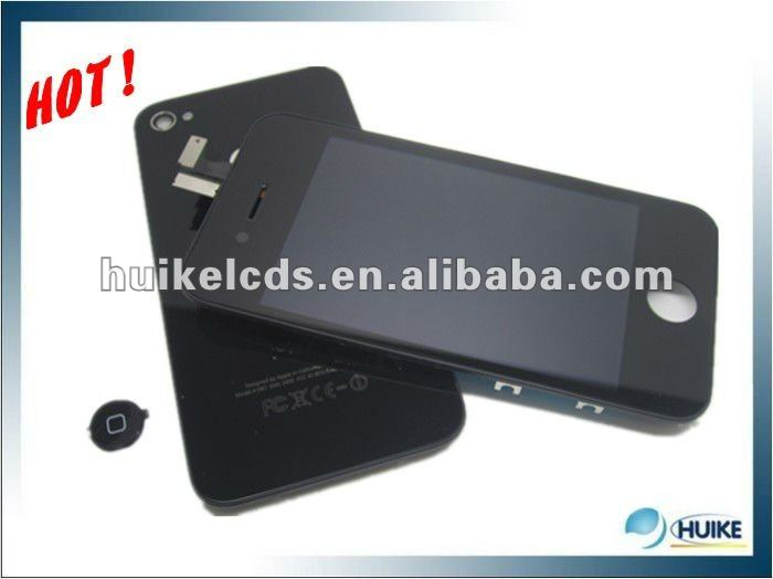 for iPhone 4s /4GColour LCD with touch screen assembly+Colour back cover+Colour button,Free shipping ,best price(China (Mainland))