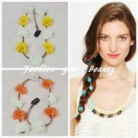 Free Shipping~~Fashion Jewelry 2013 Latest New Scale Leather&Flower Barrettes Hair Jewelry for Women (N270)