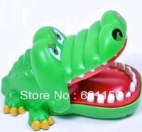 2013 very funny fool's day  green Crocodile,open mouth and press the teeth LACOSTE DORAEMON jokes product kid set, free shipping