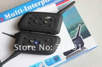 Intercom Headset Connects upto 6 riders 2 x BT 1000M Motorcycle Helmet Bluetooth FREE SHIPPING