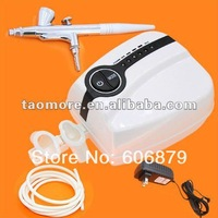 Portable Makeup Airbrush Mini Compressor Spray Gun kit 5 Speed Airbrush tattoos FREE SHIPPING