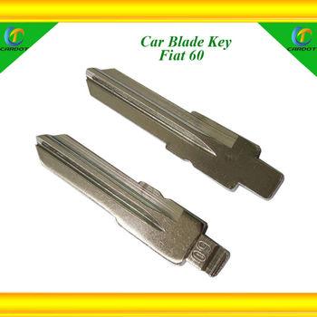 Fiat 60  flip car blank keys,hot selling model,international standard size,brass material,free shipping.