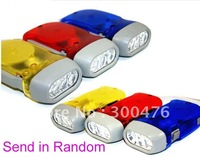 Free Shipping 2pcs/lot 3LED Hand Pressing Flash Light Torch Hand-pressing Flashlight