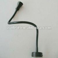 Energy saving 1*3W LED HOTEL wall lighting/ BLACK/CHROME SHAPE LED WALL BEDSIDE READING LAMP