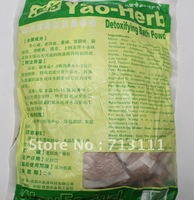 Free shipping Chinese medicine foot bath powder,100packet / bag Yao drug detoxification the the Yuzu sauna powder