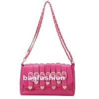 cross body leather bag Rivet handbag 2013 women with chain Shoulder Bag 4 colors drop shipping 7349