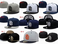 Wholesale San Diego Padres fitted hats baseball caps 12pcs/lot  free shipping