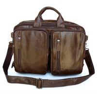British restoring ancient ways Real Leather men's bags man business portfolio leather shoulder bag Briefcase Messenger Bag