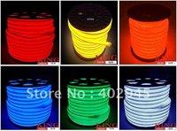 EMS shipping LED Neon Flex Red yellow orange blue green white warm white LED soft neon light led neon rope light 240V 80pcs/m