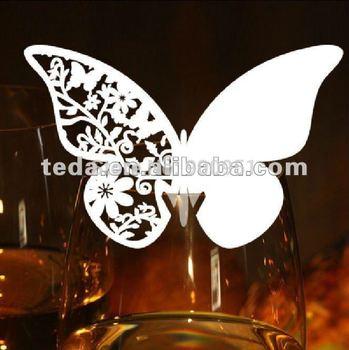 Australia via EMS Express Butterfly Wedding Place Card