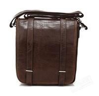 2014 new 100% Real Vintage Cow Leather Unisex Messenger Bag Shoulder bag Cross Body 7109C
