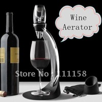 Hot Wine Aerator Tower Gift Box Set, Red Wine Aerator Magic Decanter Brand, Wine Aerating Decanter Bottle Glass + Free Shipping