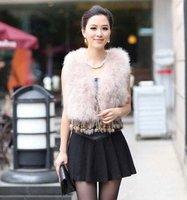 Factory direct 100% Hand Make Genuine Turkey Fur  vest /lady Waistcoat tassels /Hot Sale/Wholesale Topsale