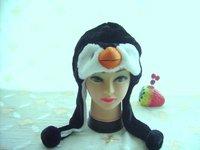 Punk Style Wholesale 8pc/lot  Short style Penguin Warm Hats Cartoon Winter Caps Ear Protectors