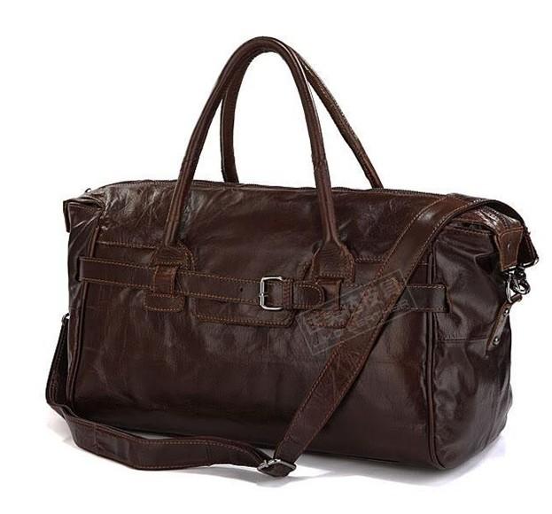 Cowboy Classic Vintage Cow Leather Travel bag Handbag Luggage bag #7079Q(China (Mainland))
