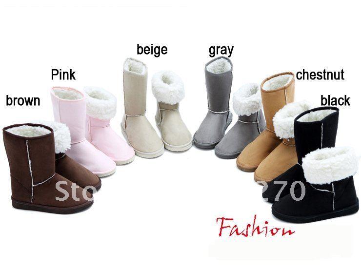 Женские ботинки Women Fashion Winter Warm Flat Heels Ladies Solid Snow Boots L12488LU drop ship 304 eur size 34-42
