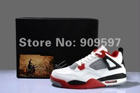 new release classic retro IV Fire Red basketball shoes for men ,mens basketball sneakers free shipping