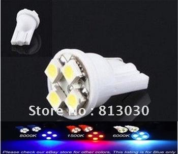 Free shipping 4 pcs X T10 White 4 LED SMD 1210 Wedge Light Bulbs 194 168 158 2825 W5W - PAIR
