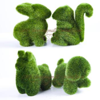 Christmas gift 96 pcs/lot artificial grass land,cute animal design decorations eye release fatigue Artificial Turf Freeshipping