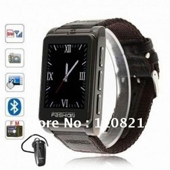 Free Shipping,High Quality,S9120 Quad Band Single Sim FM Bluetooth Compass Touch Screen Watch Phone Mobile Phone Cell Phone